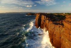 Scogliere dell'isola di S.Antioco Fotografie Stock Libere da Diritti