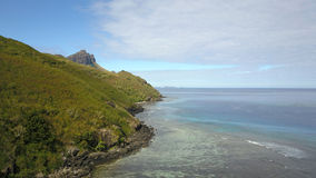 Scogliere dell'isola di Waya in Figi Fotografia Stock