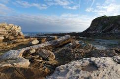 Scogliere della costa basca Fotografia Stock Libera da Diritti