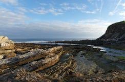 Scogliere della costa basca Immagini Stock