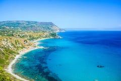 scogliere della costa italiana Fotografie Stock Libere da Diritti