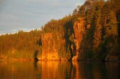 Scogliere della roccia del fiume di Mattawa Fotografie Stock Libere da Diritti