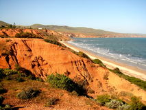 Scogliere della spiaggia di Sellicks   fotografie stock libere da diritti