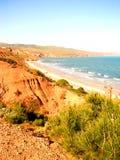 Scogliere della spiaggia di Sellicks   fotografie stock