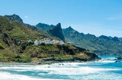 Scogliere di Almaciga sulla costa Est del nord di Tenerife Fotografia Stock Libera da Diritti