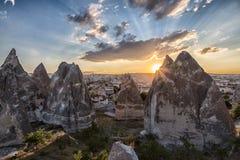 Scogliere di Cappadocia Fotografie Stock Libere da Diritti