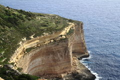 Scogliere di Dingli, Malta Fotografia Stock Libera da Diritti