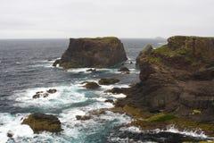 Scogliere di Eshaness, Shetland Fotografia Stock