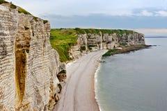 Scogliere di Etretat, Normandia Fotografia Stock Libera da Diritti