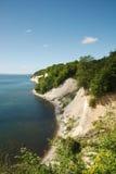 Scogliere di gesso ed il Mar Baltico, Ruegen Fotografia Stock