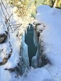 Scogliere di lago Michigan nell'inverno Immagini Stock