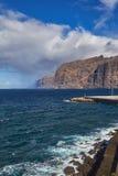 Scogliere di Los Gigantes, Tenerife Fotografia Stock