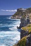 Scogliere di Mallorca con sur Fotografie Stock Libere da Diritti
