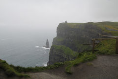 Scogliere di moher in Clare co , L'Irlanda Immagini Stock Libere da Diritti