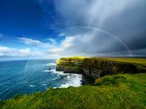 Scogliere di Moher. L'Irlanda. Fotografie Stock Libere da Diritti