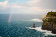 Scogliere di Moher. L'Irlanda. Fotografia Stock Libera da Diritti
