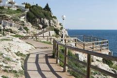 Scogliere di Rincon de la Victoria Costa del Sol Malaga Spagna Fotografie Stock Libere da Diritti
