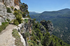 Scogliere di Siurana nelle montagne di Prades Immagini Stock Libere da Diritti