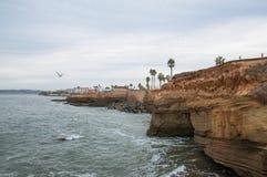 Scogliere di tramonto a San Diego Immagine Stock Libera da Diritti