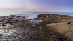 Scogliere di tramonto, San Diego, California Fotografia Stock