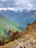 Scogliere e montagne Immagine Stock