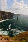 Scogliere famose di moher sulla costa ovest dell'Irlanda Fotografia Stock