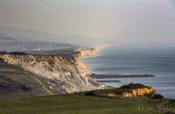 Scogliere giurassiche sulla costa di Dorset vicino a Bridport immagini stock libere da diritti