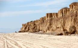 Scogliere lungo Shoreline del mare di Cortez vicino al EL Golfo de Santa Clara, sonora, Messico fotografie stock libere da diritti