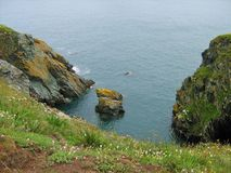Scogliere rocciose su Howth, Co dublino Fotografie Stock