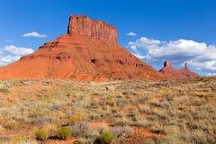Scogliere rosse in valle Utah del castello Fotografie Stock