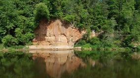 Scogliere sabbiose del fiume di Gauja Fotografie Stock