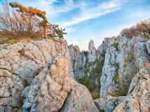 Scogliere stupefacenti della Crimea, Ucraina Immagini Stock