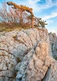 Scogliere stupefacenti della Crimea, Ucraina Fotografie Stock
