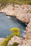Scogliere su Mallorca Fotografia Stock Libera da Diritti