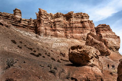 Scogliere uniche del canyon di Charyn Fotografia Stock Libera da Diritti
