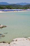 Scoglio di Peppino, côte Rei, Sardaigne, Italie Photographie stock libre de droits