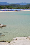 Scoglio di Peppino, Costa Rei, Sardinia, Italy Royalty Free Stock Photography