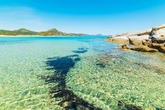 Scoglio Di Peppino plaża w wiośnie Obraz Royalty Free