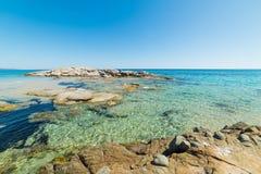 Scoglio di Peppino strand Royaltyfria Foton