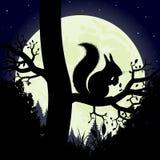 Scoiattolo su un albero illustrazione vettoriale