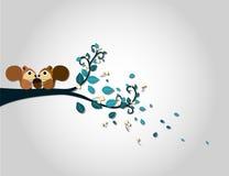 Scoiattolo su una filiale di albero illustrazione di stock