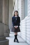 Scolara elementare asiatica Immagini Stock Libere da Diritti