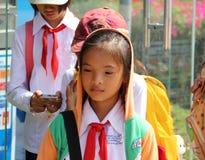 Scolara vietnamita Fotografia Stock Libera da Diritti
