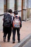 Scolari a Bogota Colombia Fotografia Stock
