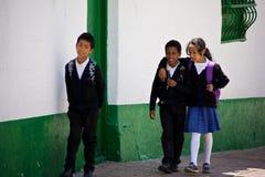 Scolari a Bogota Colombia Immagini Stock