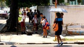 Scolari cubani Immagine Stock