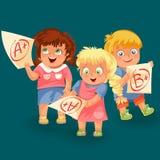 Scolari ed icone dei segni messe royalty illustrazione gratis