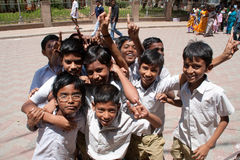 Scolari indiani Fotografie Stock Libere da Diritti