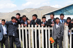 Scolari mongoli Fotografia Stock