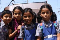 Scolari piacevoli dell'India immagini stock libere da diritti